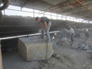 Steinarbeiter in der Türkei
