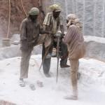 Steinbrucharbeiter in Indien